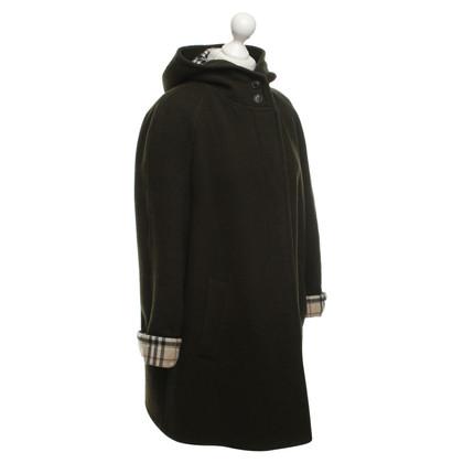 Burberry Groen jasje scheerwol