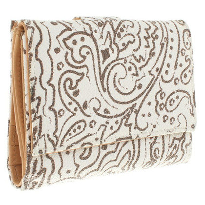 Etro Wallet in Beige / wit