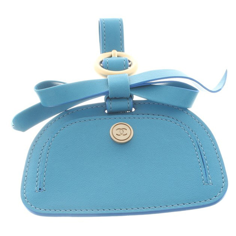 Chanel Address Tag in Blue
