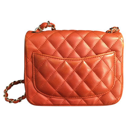 "Chanel ""Flap Bag Mini Square"" in Red"