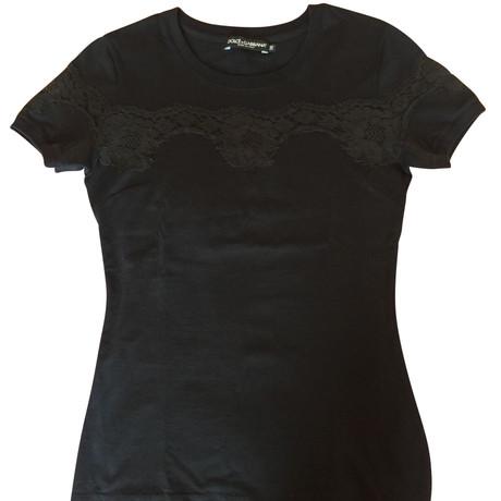 Gabbana Schwarzes Schwarz T Schwarzes Schwarz Dolce amp; amp; Shirt Dolce T Gabbana Shirt 87gqBB