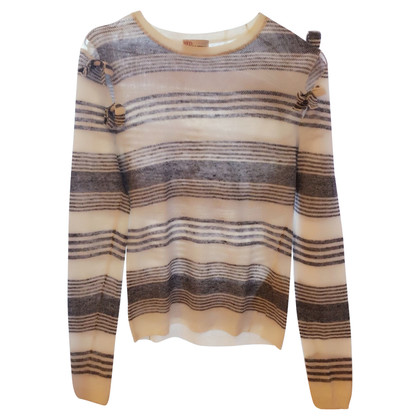 Red Valentino Striped linen-top