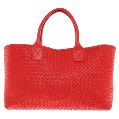 "Bottega Veneta ""Cabat Bag"" in red"