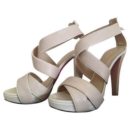 Just Cavalli Leather sandals with plateau