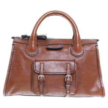 """Chloé """"Edith"""" borsa marrone"""