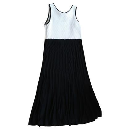 Derek Lam Langes Kleid in Schwarz/Weiß