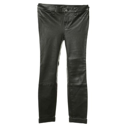 J Brand Pantaloni di pelle in nero