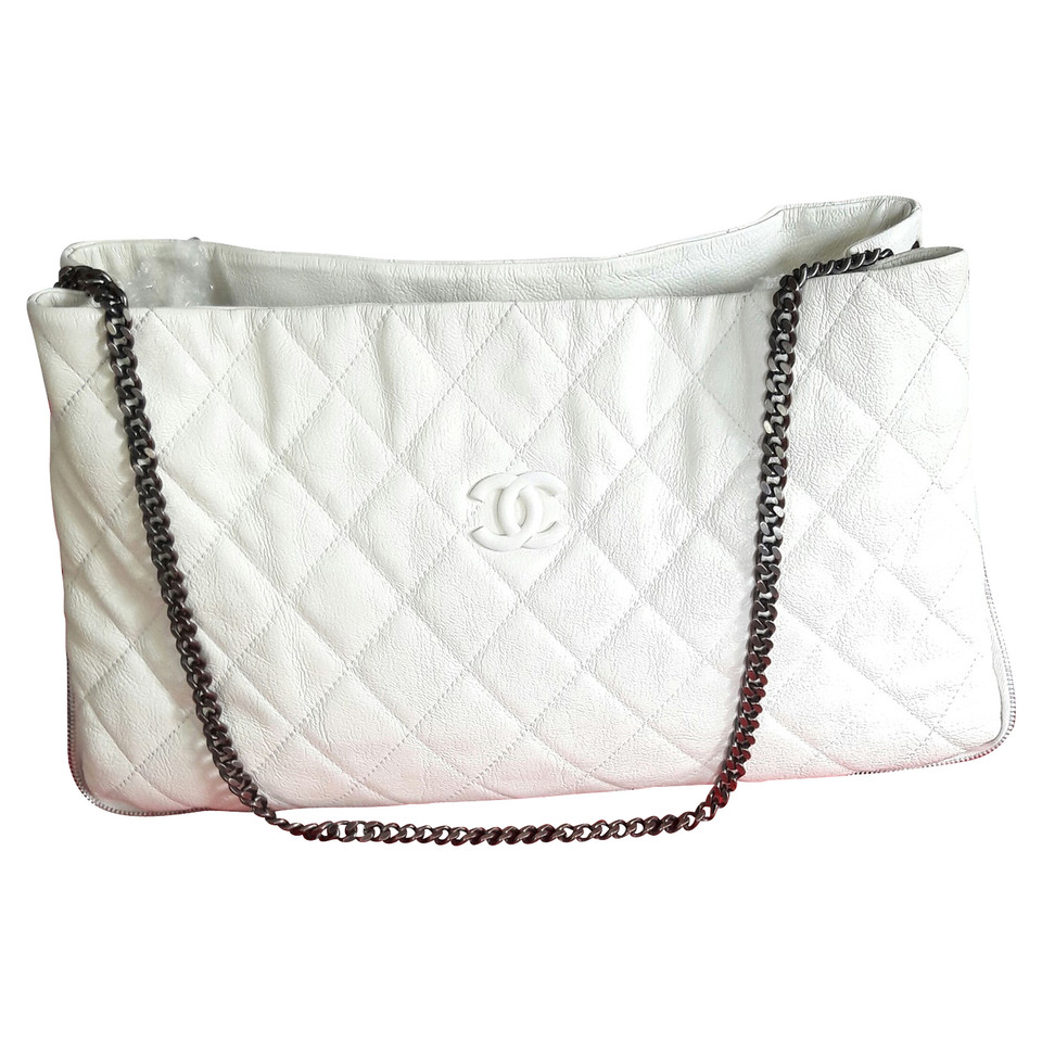 chanel chanel tasche in ecru buy second hand chanel. Black Bedroom Furniture Sets. Home Design Ideas