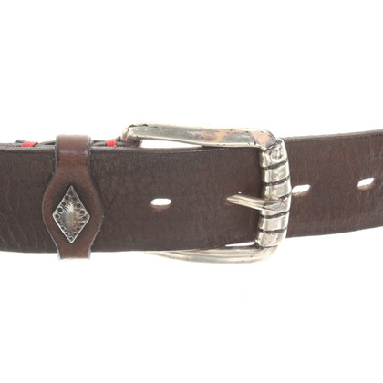 Fausto Colato Leather belt with rivet application