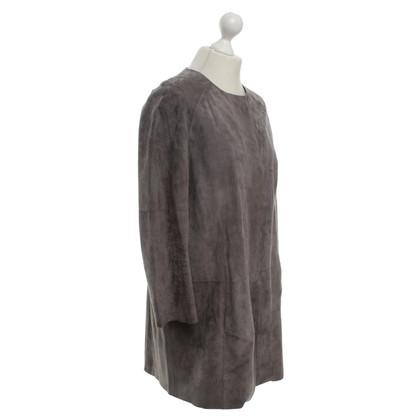 Andere merken Steven K - suede jas in grijs