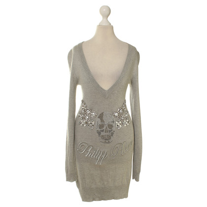 Philipp Plein Strickkleid in Grau