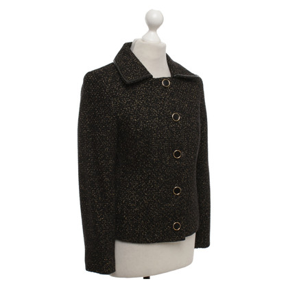 Elie Tahari Bouclé jacket in black / gold
