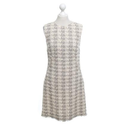 Dolce & Gabbana Bouclé jurk in beige / grijs