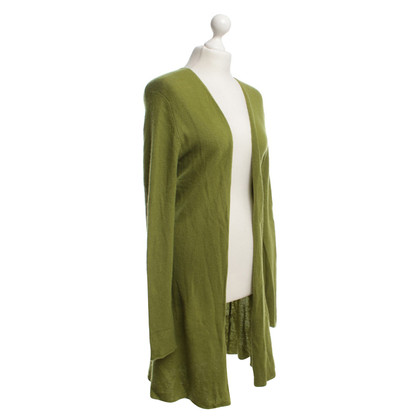 Allude Long cardigan in green