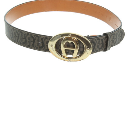 Aigner Belt with logo pattern