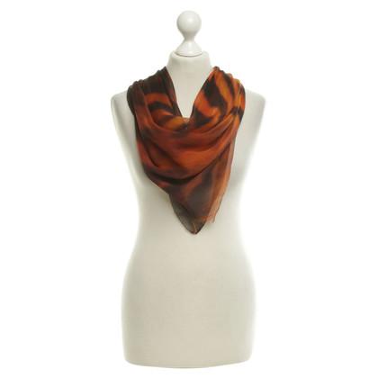 Roberto Cavalli Silk scarf in animal look