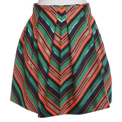 Delpozo  skirt with stripe pattern