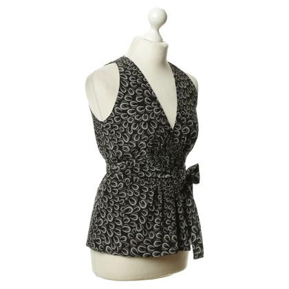 Gucci Zijden blouse met patronen