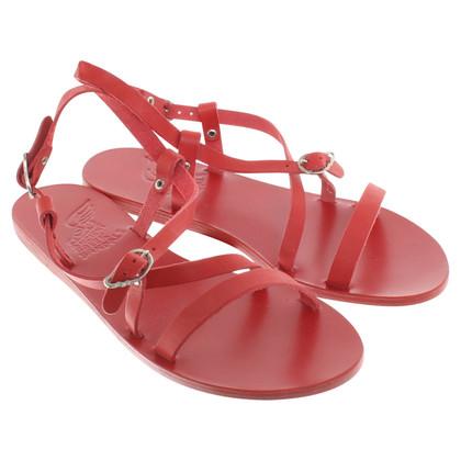 Ancient Greek Sandals Sandalen in Rot