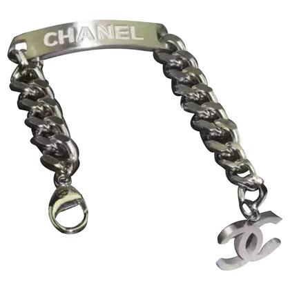 Chanel Bracelet en argent avec pendentif logo