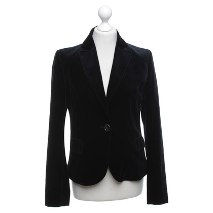 Hugo Boss Samt-Blazer in Schwarz