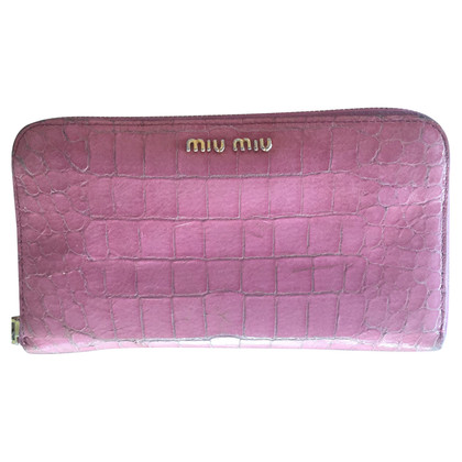 Miu Miu Wallet in crocodile leather look