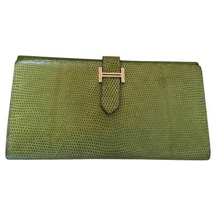 """Hermès """"Béarn Wallet"""" made of lizard leather"""