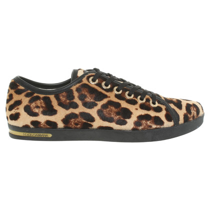 Dolce & Gabbana Sneakers with fur trim