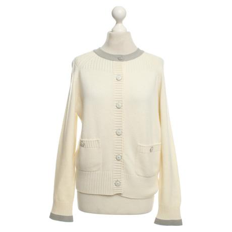 Chanel Strickjacke aus Kaschmir Creme Billig Verkauf Auslass eJSIeA97a