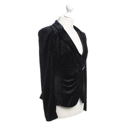 Giorgio Armani Black velvet blazer