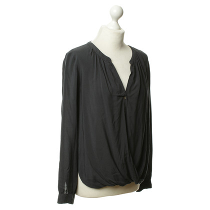 Velvet Tunic blouse in bottle Green