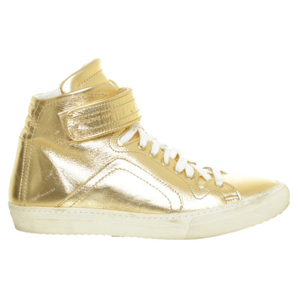 Pierre Hardy Hightop Sneaker in Goldfarben