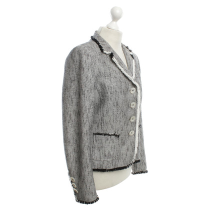 Van Laack Blazer in black / white