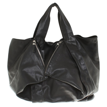 Jil Sander Leather shoppers in zwart