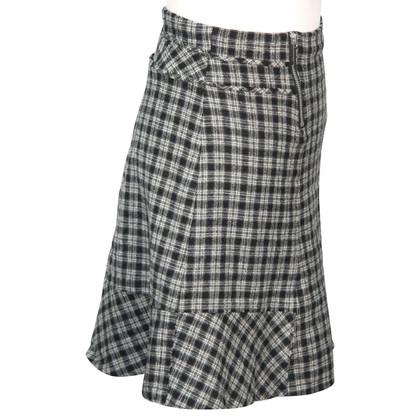 Karen Millen Checkered skirt wool