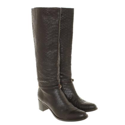 Sergio Rossi Boots in dark brown