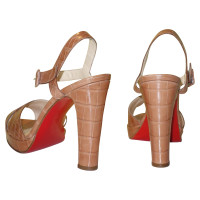 Christian Louboutin Platform Sandals made from crocodile leather