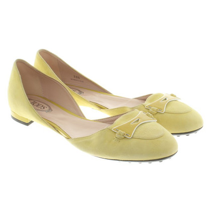 Tod's Ballerinas in neon yellow