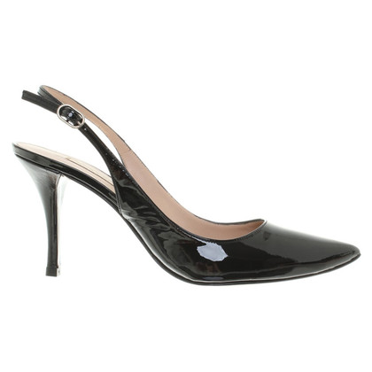 Pura Lopez Slingbacks in black