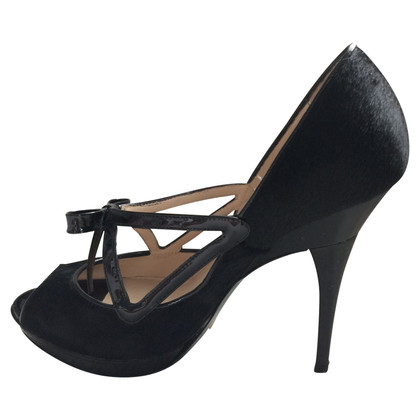 Armani Peep-toes with patent leather bow