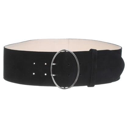Prada Black Suede belt