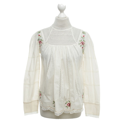 Other Designer Intropia - top with lace details