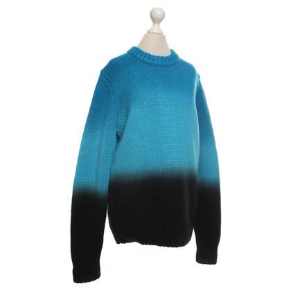 Proenza Schouler Sweater in turquoise / black