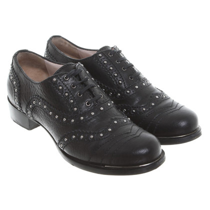 Miu Miu Lace-up shoes from leather