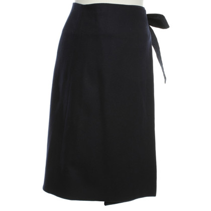 Cos Wrap skirt in dark blue