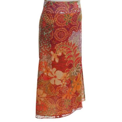 Kenzo Jupe en soie avec imprimé floral