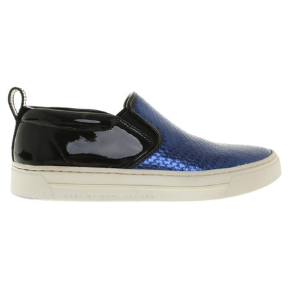 Marc by Marc Jacobs Slipper in Blau/Schwarz