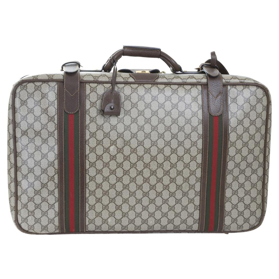 gucci valise vintage acheter gucci valise vintage second hand d 39 occasion pour 498 00 2489856. Black Bedroom Furniture Sets. Home Design Ideas