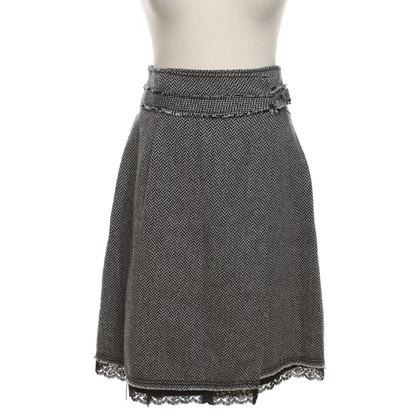 Max & Co skirt herringbone pattern