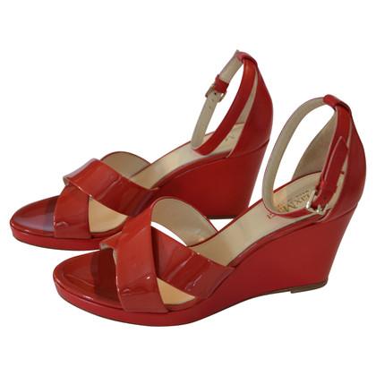 Max Mara Sandaletten in Rot